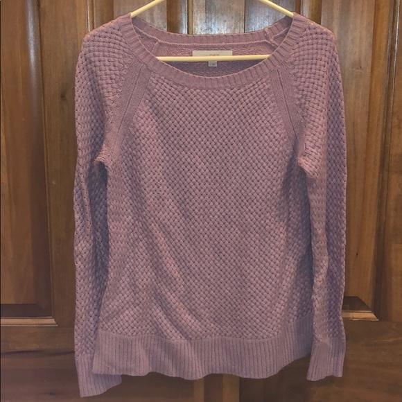 Mauve Loft Sweater/Blouse